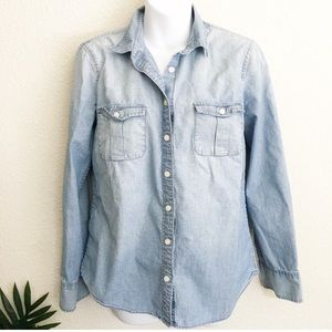 J. CREW KEEPER CHAMBRAY Button-down shirt